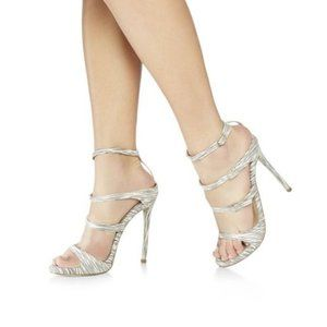 JustFab Odessa Strapped Heels NWT